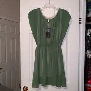 Olive and Ivory Dress